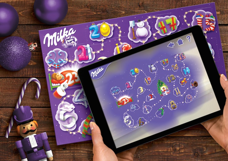 Pic.: Milka's children calendar enhanced with AR experience