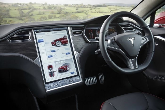 Photo: Tesla's interactive panel