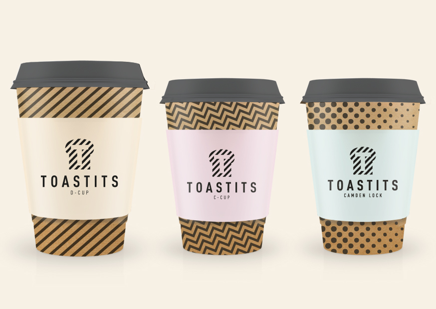 Photo: packaging and identity of Toastits, a new London's street-food brand