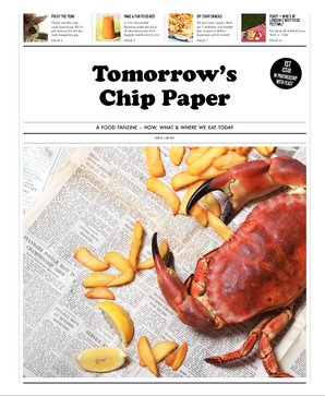 Photo: cover of the first issue  of Tomorrow's Chip Paper, July 2013