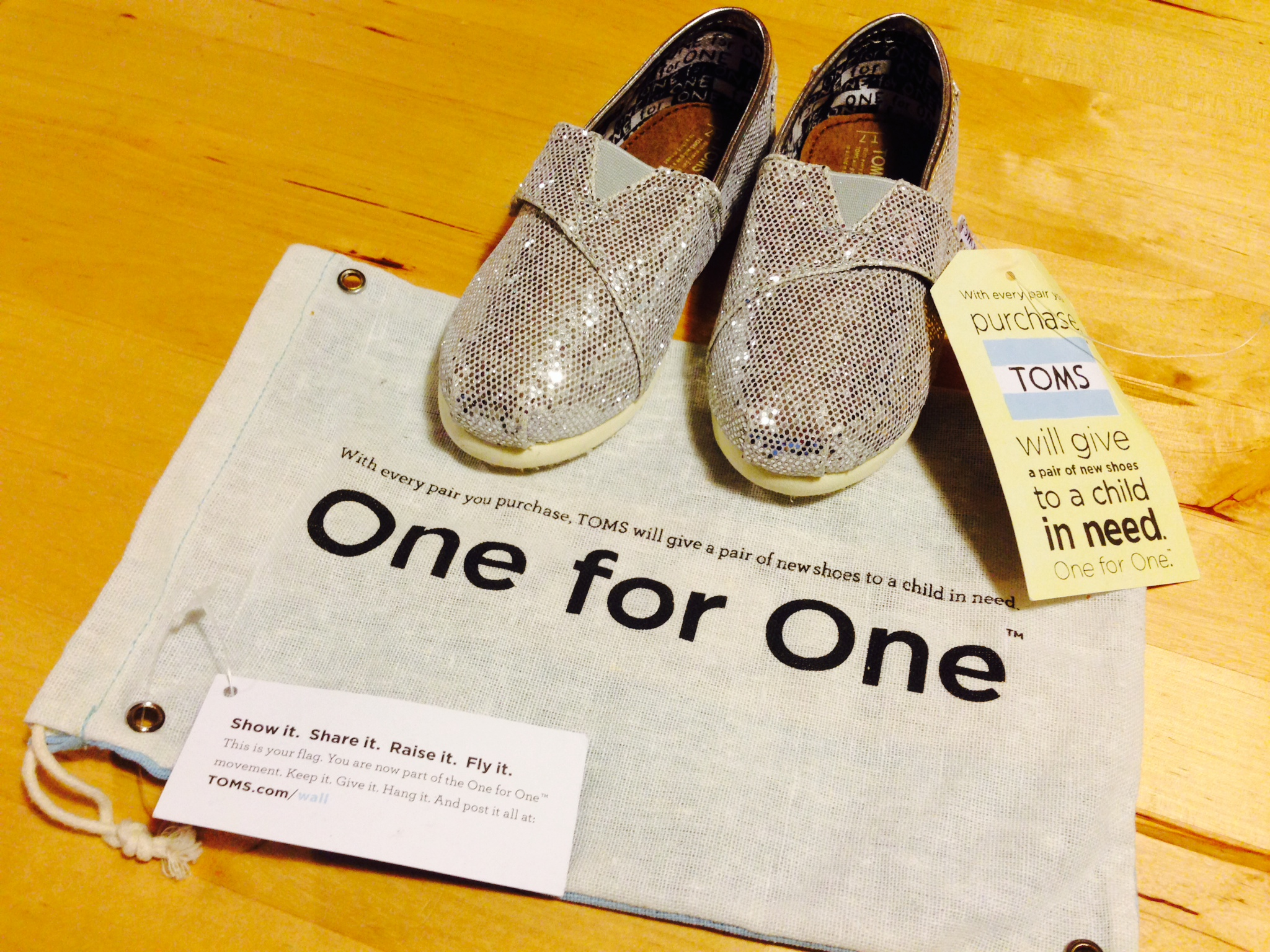 Photo: Toms' shoes one-for-one policy: when you buy a pair, a person from the poorest regions of the word gets a pair for free