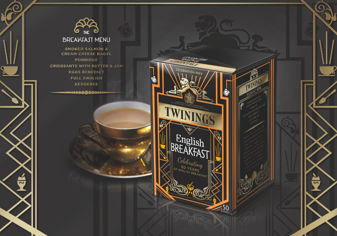 Pic.:  Twinings English Breakfast, 80th anniversary packaging