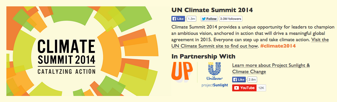 Photo: UN Climate Change campaign's page on Upworthy.com