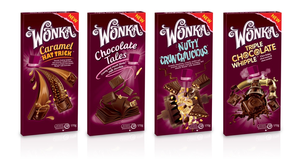 Photo: Nestle's WONKA new chocolate range