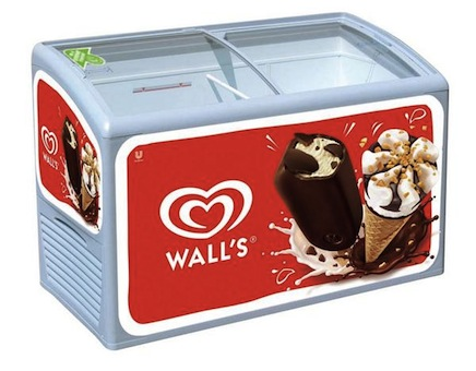 Photo: Unilever's 70% energy efficient retail cabinet for ice cream