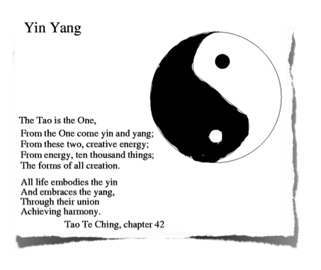 Photo: Ying Yang sign