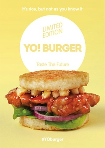 Photo: YO! Burger prints designed by Kent Lyons