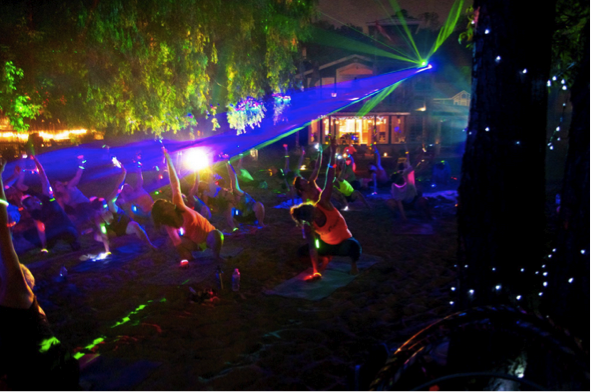 Photo: Yoga Rave event