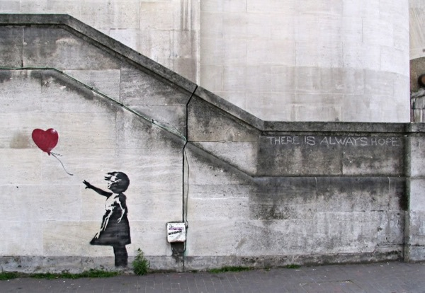 Photo: Banksy's Baloon Girl, London