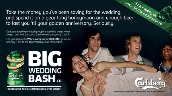 Carlsberg потратит 100 000 долларов на свадьбу