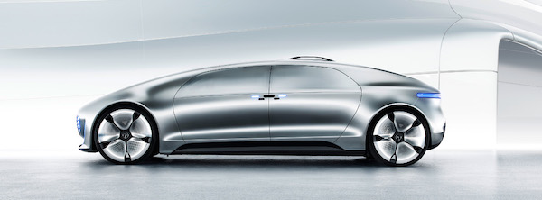 "Photo: a prototype of the F 015, a ""luxury in motion"" vehicle"