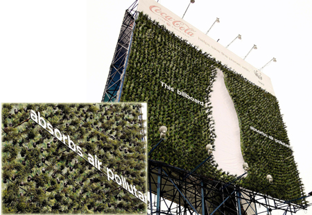 co2-absorbing plants popsop reports reads billboard absorbs air pollutants