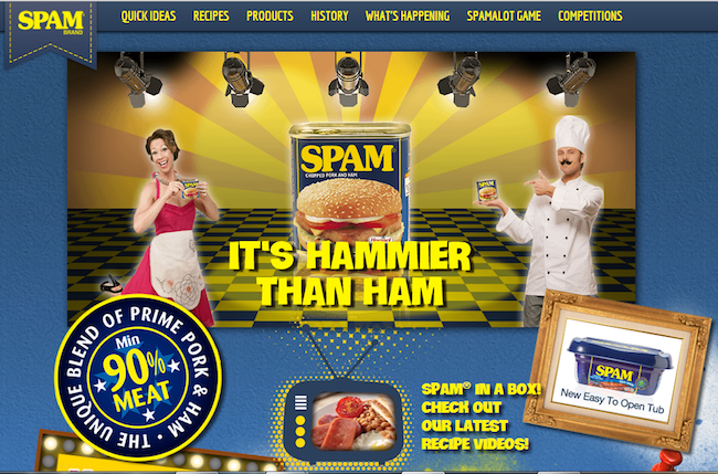 Photo: Hammier than ham campaign for SPAM