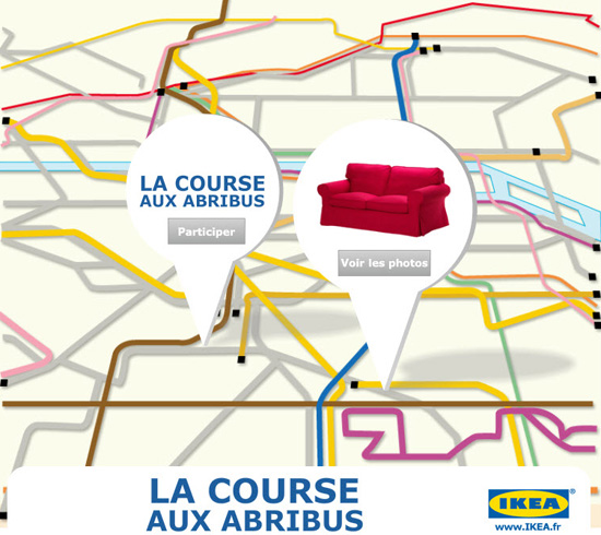 Oh My Experience Ikea Catalove 2014: IKEA Occupies Paris Bus Shelters