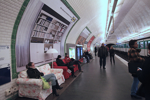 Ikea turns paris metro station into a living room popsop consumer insight - Ikea paris catalogue ...