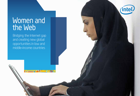 Pic.: A cover of Intel's Women and the Web study