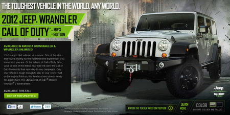 Jeep Launching 'Call of Duty: Modern Warfare 3' Campaign to