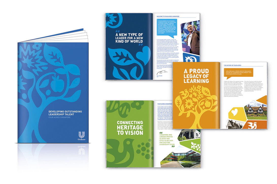 Photo: Unilever's Four Acres branding: logo and stationery materials