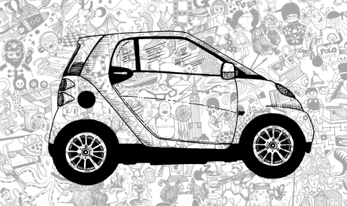 Johanna Basford To Draw The Future On Smart Car  U2013 Popsop