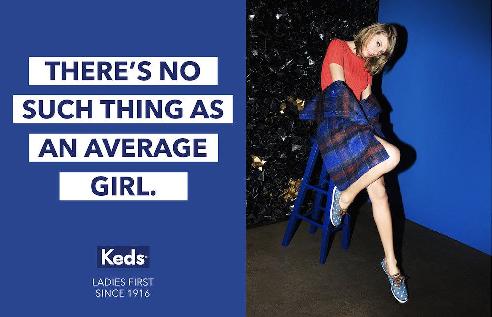 Photo: Taylor Swift starring in the latest Keds' campaign