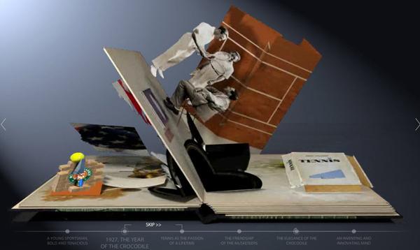 История Lacoste в виртуальной книжке-раскладушке. lacoste_popup_book_03.