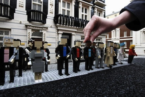 Photo: Lego people on the Lego street