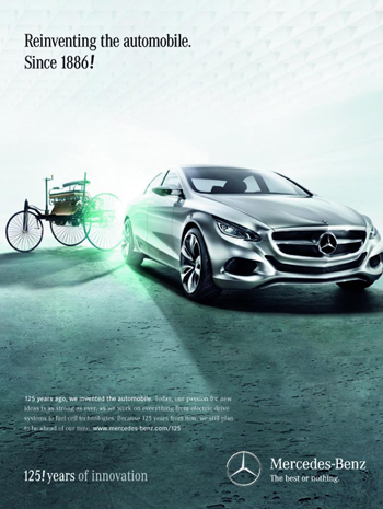 Mercedes Benz Anniversary Campaign Celebrates The 125 Year