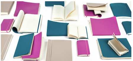 Photo: Blue and pink Moleskins
