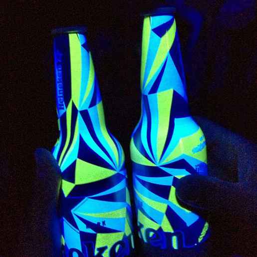 Photo: Heineken Club Bottle 2013 by Matt W. Moore, glowing at night