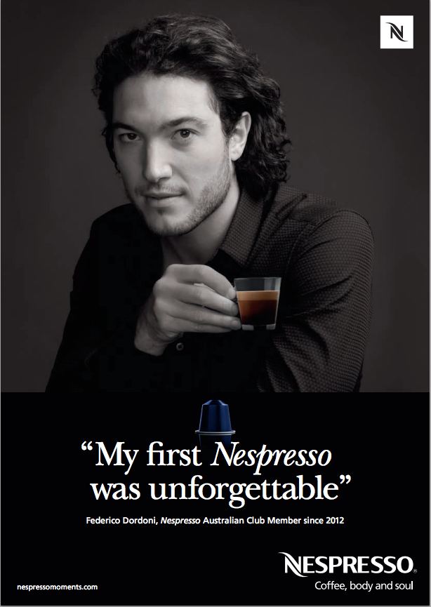 Pic.: A visual from the Nespresso Moments campaign in Australia (click to enlarge)