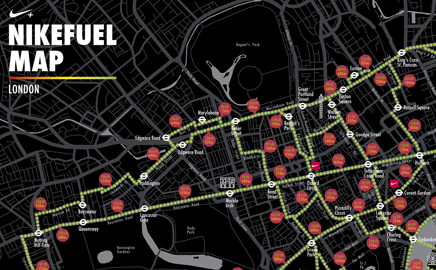 nike encourages londoners to explore the city on foot with the