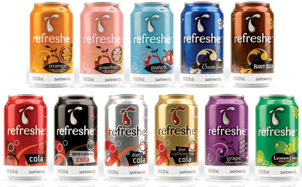 Refreshe brand soda