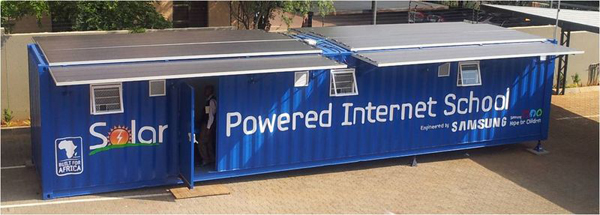 Samsung Solar Powered Internet Schools Bring Technology