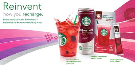 Starbucks Refreshers Re Energize The Globe Popsop