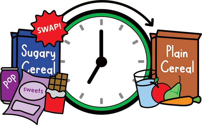 "Pic.: a ""swap clock"" image from the campaign's website"