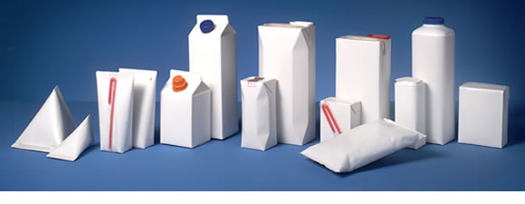 Diferentes tipos de embalagens
