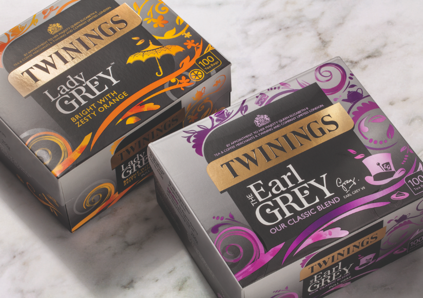 Photo: new package design for Twinings Classic and Earl Grey ranges