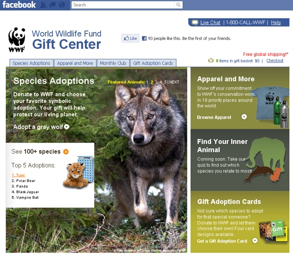 Wwf Invites Facebook Users To Adopt An Animal Popsop
